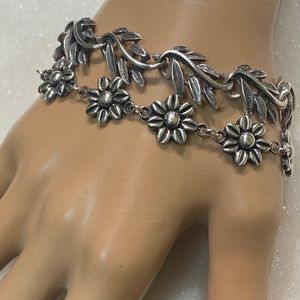 Daisy Flower Bracelet Sterling 925
